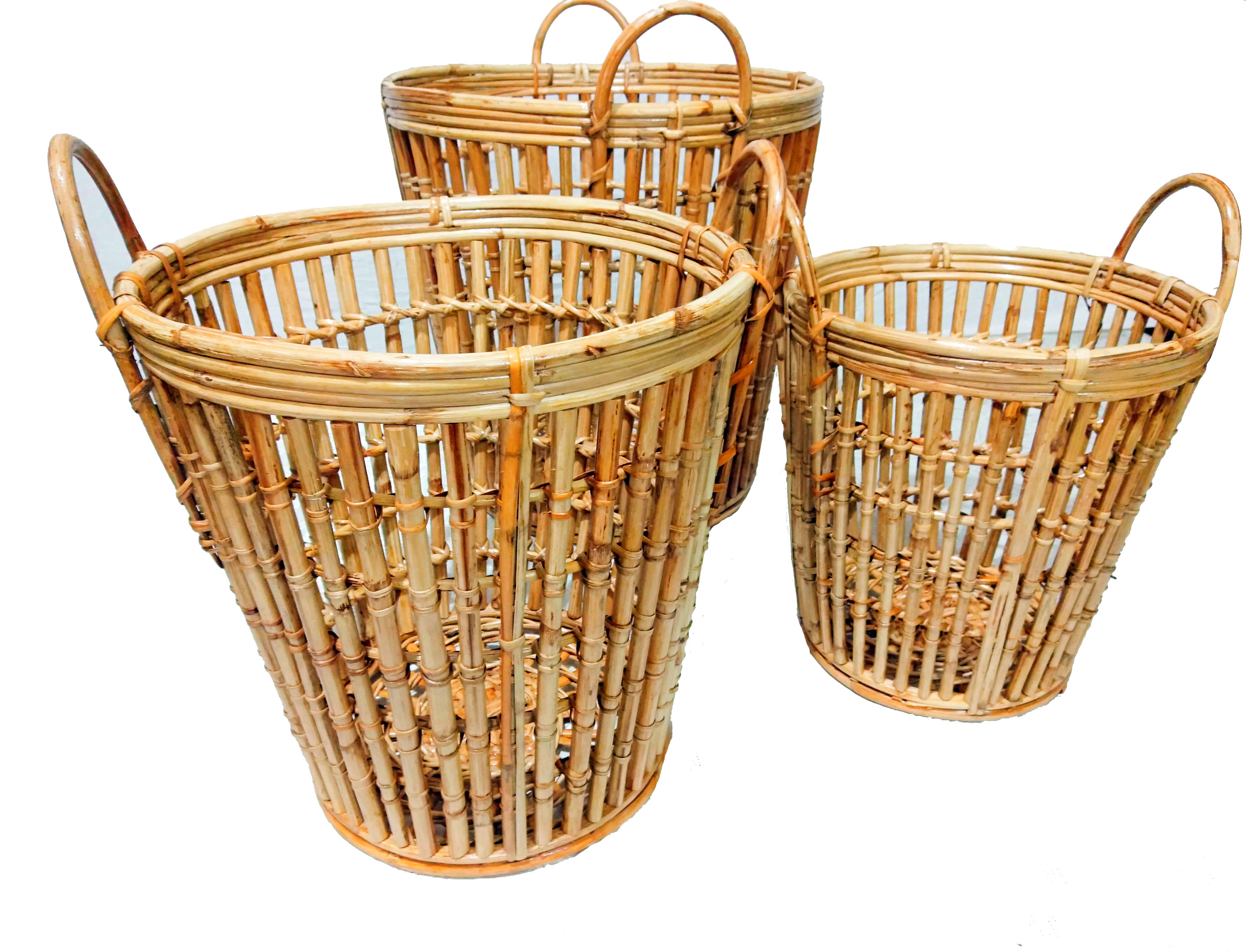 ROUND STICK LAUNDRY BASKET